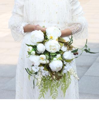 Pen Overlappet Silke blomst Brude Buketter - Brude Buketter