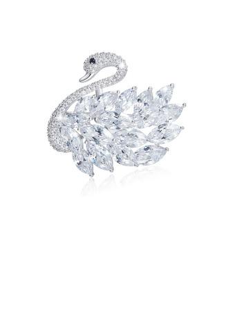Forma de cisne Aleación/Diamantes de imitación con Rhinestone Señoras' Broche