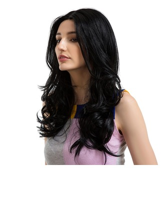 Loose Wavy Synthetic Hair Human Hair Wigs