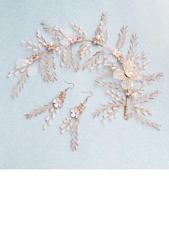 Damer Bowknot Legering/Pärlor Pannebånd med Imitert Krystall (Sett med 2)
