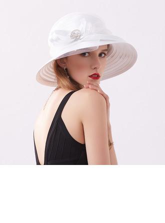 женские Классический/простой чистая пряжа с горный хрусталь Пляжные / солнцезащитные шлемы/Кентукки дерби шляпы/Шапки для чаепития