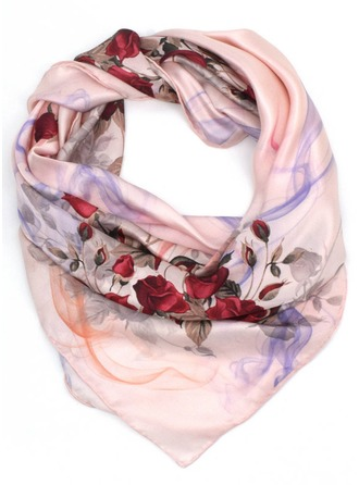 Floral Neck/Square Scarf