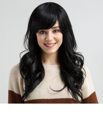 Wavy Human Hair Blend Human Hair Wigs 170g