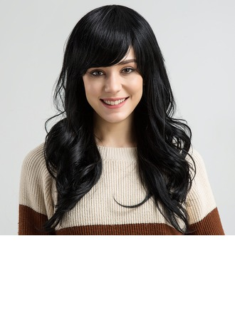 Ondulato Blend di capelli umani Parrucche dei capelli umani 170g