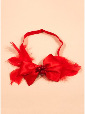 Polyester/Elastic/Feather Headbands