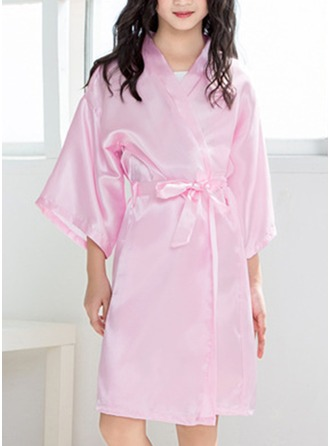 Non-personalized Charmeuse Flower Girl Blank Robes