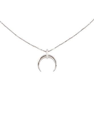 sølv Måne Anheng halskjede