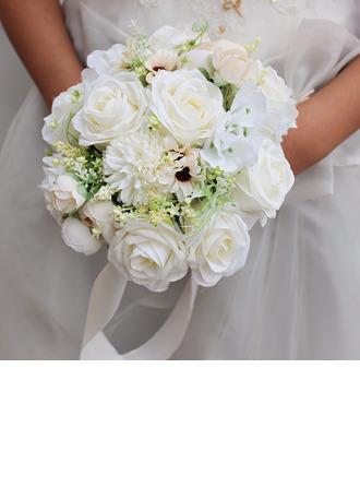 Elegant Round Silk Flower Bridal Bouquets - Bridal Bouquets