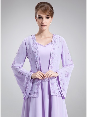 Long Sleeve Chiffon Wrap