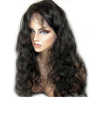 4A non remy Vague de corps Cheveux humains Perruques avant en dentelle