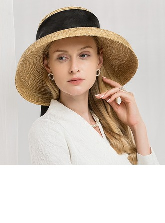 Damene ' Nydelig/Mote/Glamorøse Raffia Strå Strand / Sol Hatter/Kentucky Derby Hatter