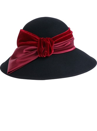 Ladies' Fashion/Special/Glamourous Wool/Velvet With Bowknot Bowler/Cloche Hat