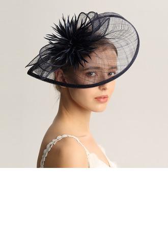 Damene ' Mote/Spesielle/Glamorøse/Elegant/Unik/Jobb/Romantisk/vintage stil/Kunstnerisk Cambric/Fjær Fascinators/Kentucky Derby Hatter