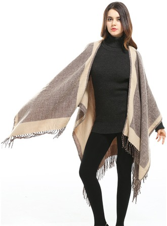 Plaid Énorme/mode/simple Laine artificielle Poncho