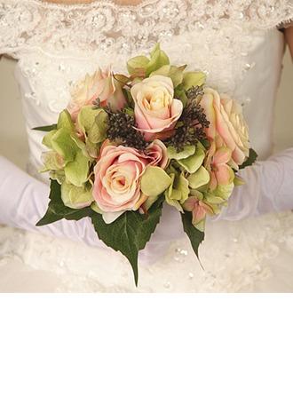 Élégante Rond Fleurs séchées Bouquets de mariée -
