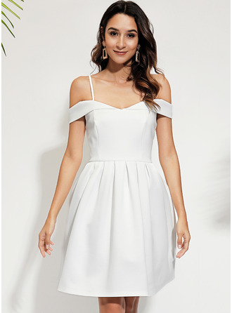 A-line Off the Shoulder Polyester Dresses