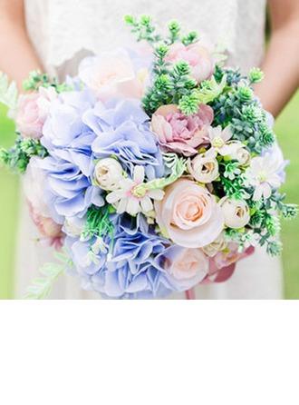 Floreciente Redondo Flores de seda Ramos de novia/Ramos de la dama de honor -