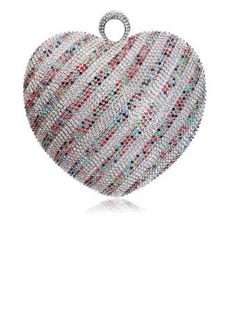 Elegant Crystal/ Rhinestone/Polyester Clutches/Minaudiere