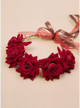 Fluwelen bloem hoofdband