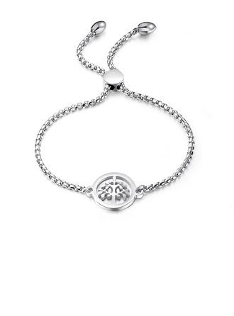 Link & kæde Bolo armbånd med træ - Valentines Gaver Til Hende