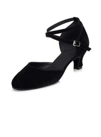 De mujer ante Tacones Salón Moderno con Tira de tobillo Zapatos de danza