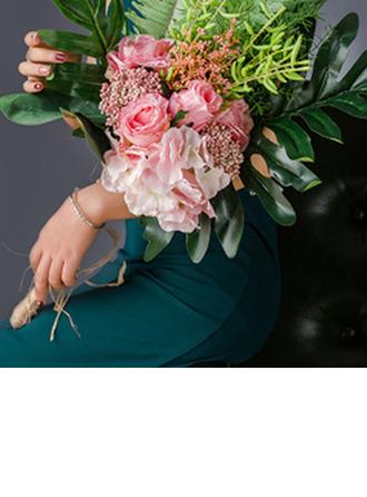 Sencillas y elegantes Forma libre Flores de seda/Plástico Ramos de novia/Ramos de la dama de honor - Ramos de novia
