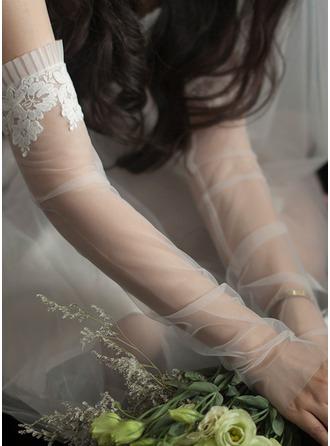 Tule Elbow Lengte Bruids Handschoenen