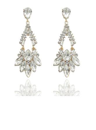 Ladies' Elegant Rhinestones Rhinestone Earrings For Bride