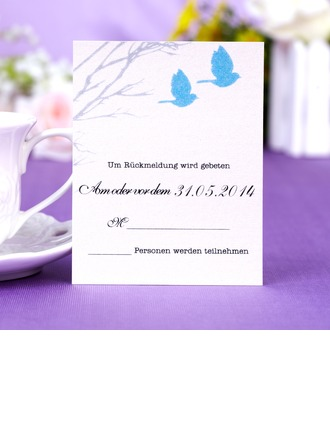 Personalized Formal Style Response Cards (Set of 50)