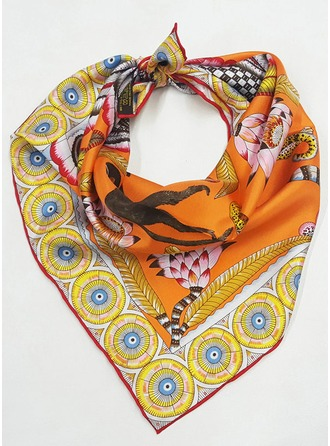 Floral Square/Light Weight Scarf