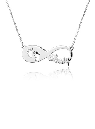 Personalized Ladies' Eternal Love Zircon Name Necklaces Necklaces For Bride/For Bridesmaid/For Mother/For Friends/For Couple