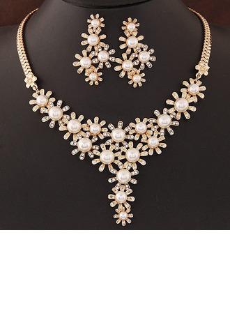 Unik Legering Rhinestones med Imitert Perle Damene ' Smykker Sett
