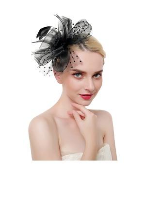 Dames Glamour/Style Classique/Élégante Feather/Fil net avec Feather Chapeaux de type fascinator/Kentucky Derby Des Chapeaux