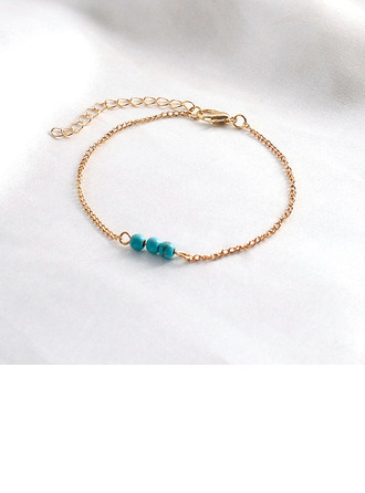 Anti-oxidation Link & Chain Charm Bracelets Bridesmaid Bracelets -
