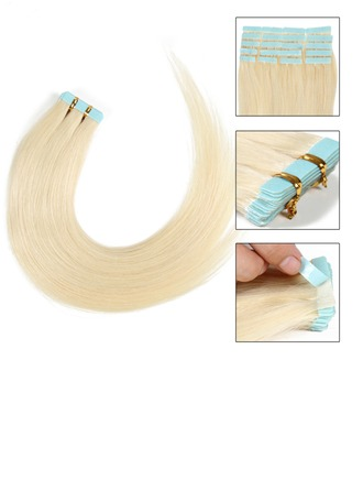 4A Derecho Cabello humano Cinta en extensiones de cabello 20PCS