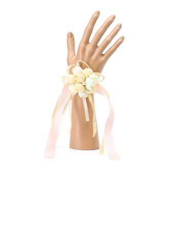 Attaché à la main Soie Corsage du poignet (vendu en une seule pièce) -
