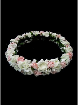 Net Garn mit Blume Blumen-Stirnband