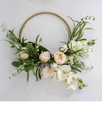 Charmia Pyöreä Silkki kukka/Muovi/Silk pellava Morsiamen kukkakimppuihin/Koristeet -