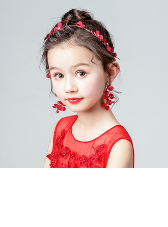 Taslar Ile yay/Çiçek Headbands/Küpeler (2 Set)