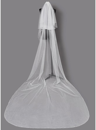 Two-tier Beaded Edge Chapel Bridal Veils