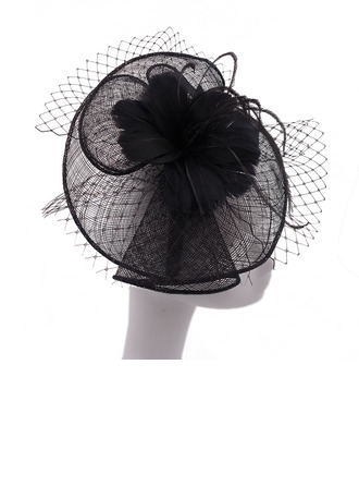 Ladies' Beautiful/Elegant/Romantic Cambric With Feather/Tulle Fascinators/Kentucky Derby Hats/Tea Party Hats