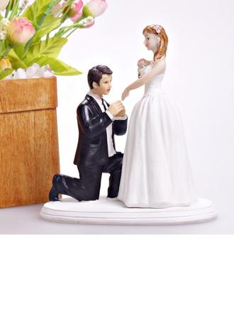 """Cinderella Moment"" Resin Wedding Cake Topper"