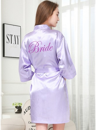 Non-personalized Charmeuse Bride Glitter Print Robes