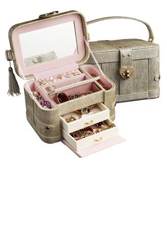 Bruid Cadeaus - Wijnoogst pu Juwelendoos