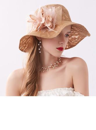 Ladies' Classic/Fancy Lace With Flower Beach/Sun Hats/Kentucky Derby Hats/Tea Party Hats