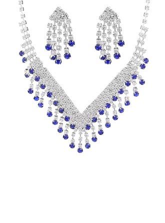 Señoras' Luminoso Diamantes de imitación Sistemas de la joyería Amigos/Novia