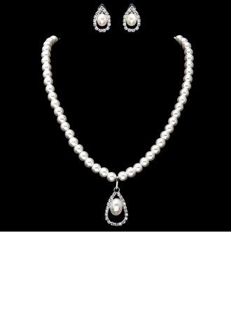 Elegante Aleación/Perla con Rhinestone De mujer Sistemas de la joyería