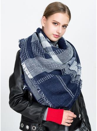 Color Block Nek/aantrekkelijk/Koud weer Acryl Sjaal