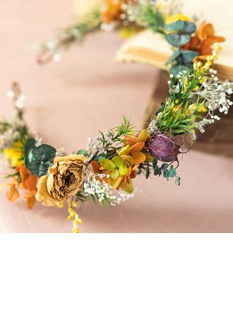 Style Classique Rond Fleurs séchées Coiffure Fleur (vendu en une seule pièce) - Coiffure Fleur
