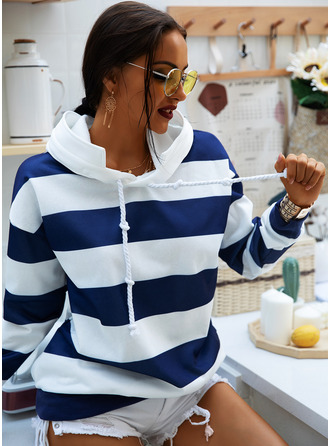 Couleurs Opposées Striped Sweat-shirt Manches Longues